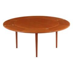 """Danish Modern """"Flip-Flap"""" Teak Dining Table by Dyrlund"""