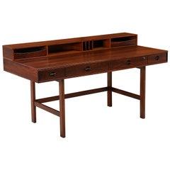Danish Modern Flip-Top Executive Rosewood Desk by Peter Løvig Nielsen