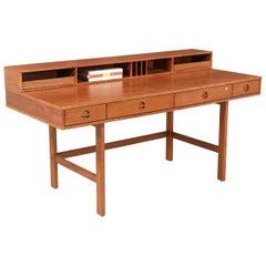 Danish Modern Flip-Top Partners Teak Desk by Peter Løvig Nielsen