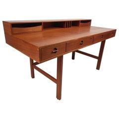 Danish Modern Flip Top Teak Desk by Jens Quistgaard