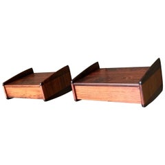 Danish Modern Floating Rosewood Nightstands by Melvin Mikkelsen, 1960s