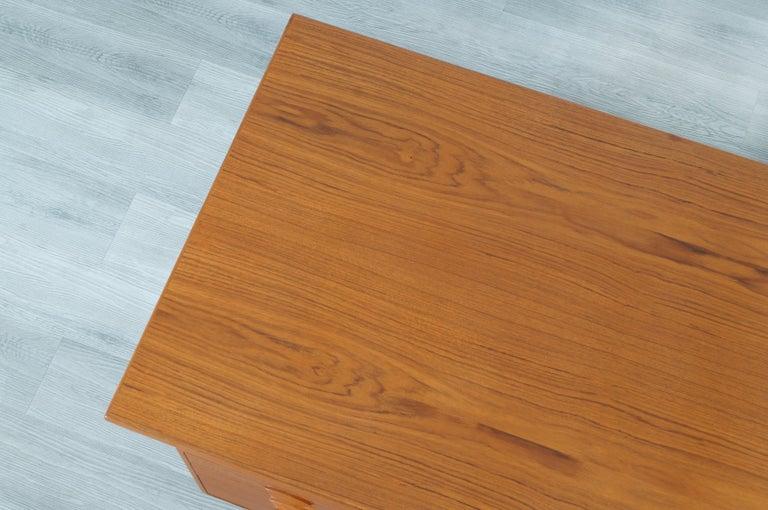 Danish Modern Floating Top Desk by Kai Kristiansen For Sale 4