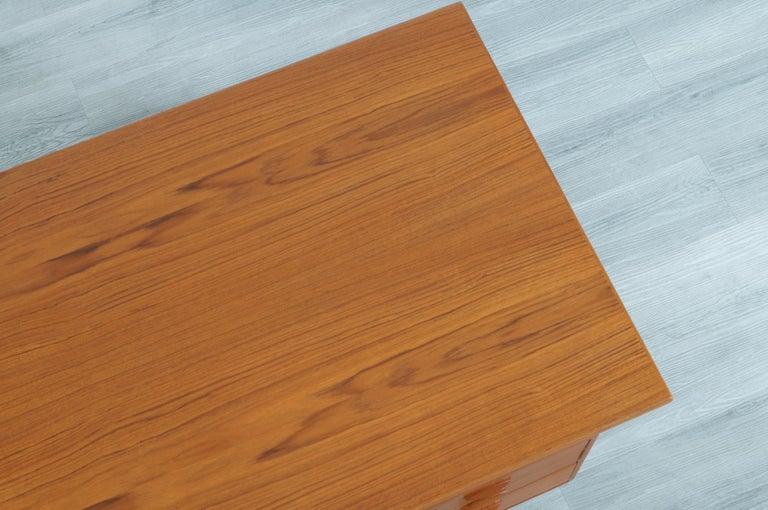 Danish Modern Floating Top Desk by Kai Kristiansen For Sale 5