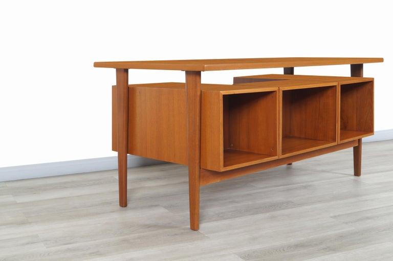 Danish Modern Floating Top Desk by Kai Kristiansen For Sale 2