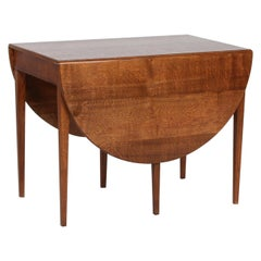 Danish Modern Frits Henningsen Coffee Table of Solid Oak with Two Flaps, 1950s