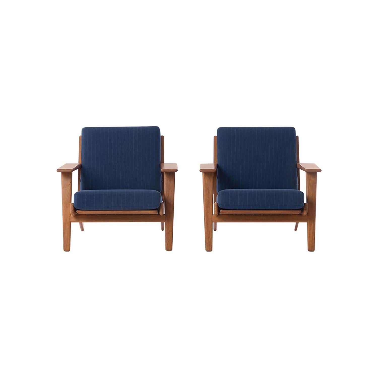 Danish Modern GE290 Teak Lounge Chairs by Hans J. Wegner GETAMA 290