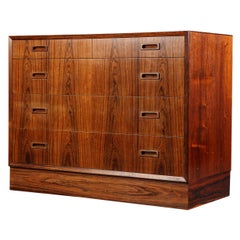Danish Modern Gentlemans Chest in Rosewood by Lyby
