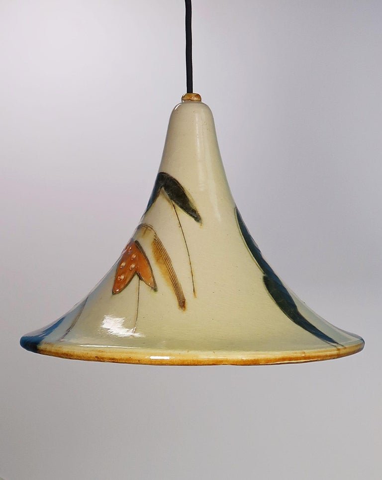 Danish Modern Glazed Ceramic Pendant by Artist Marianne May, 1970s For Sale 1