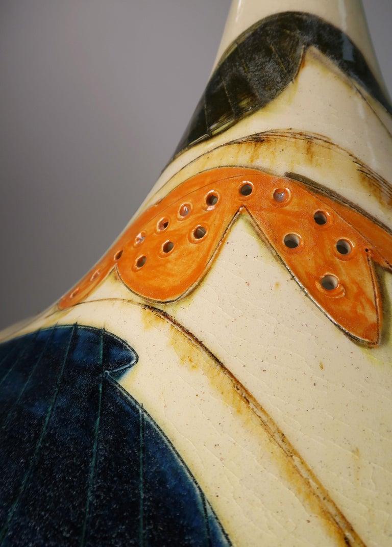 Danish Modern Glazed Ceramic Pendant by Artist Marianne May, 1970s For Sale 11