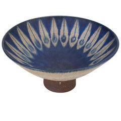 Dänische Moderne Glasierte Steinzeug-Schale von Thomas Toft