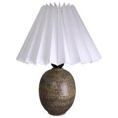 Golden Brown Rounded Danish Modernist Vintage Table Lamp, 1960s