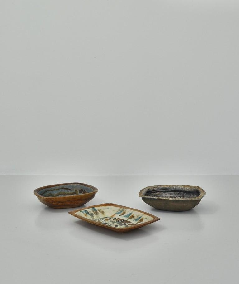 Danish Modern Group of Glazed Ceramics Bowls by Jeppe Hagedorn-Olsen, 1960s For Sale 11