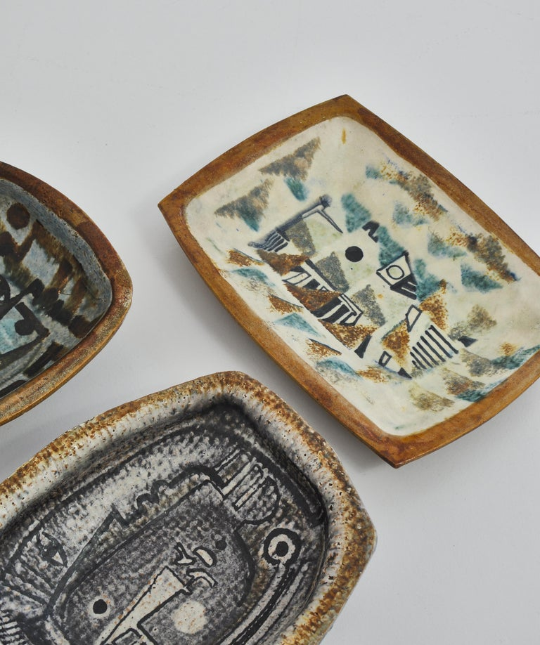 Mid-20th Century Danish Modern Group of Glazed Ceramics Bowls by Jeppe Hagedorn-Olsen, 1960s For Sale