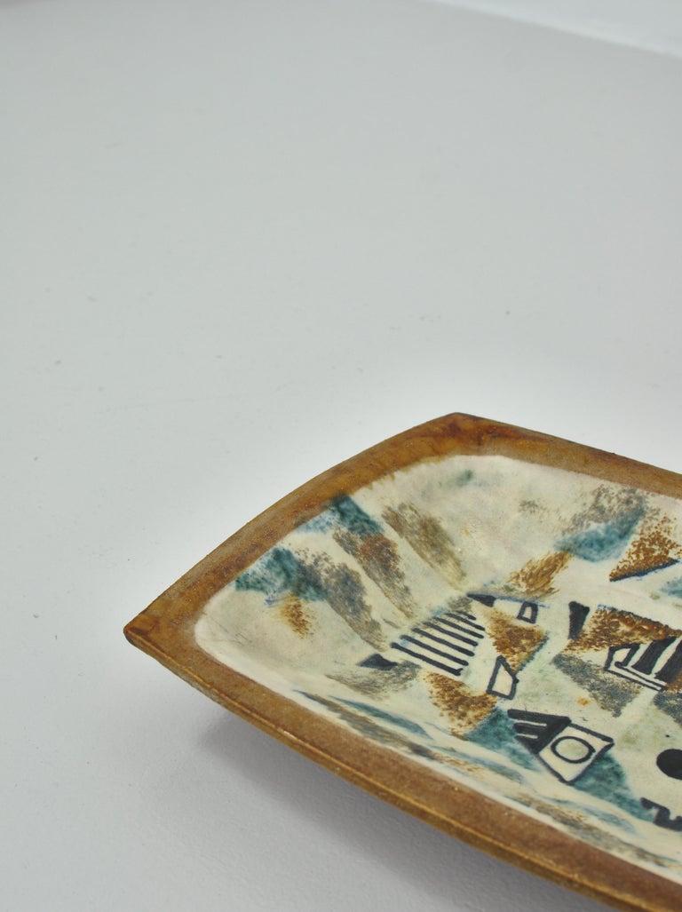 Earthenware Danish Modern Group of Glazed Ceramics Bowls by Jeppe Hagedorn-Olsen, 1960s For Sale