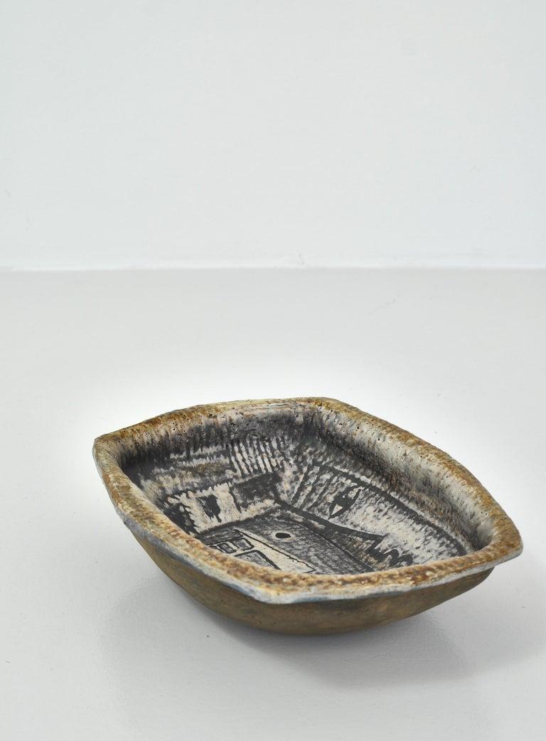 Danish Modern Group of Glazed Ceramics Bowls by Jeppe Hagedorn-Olsen, 1960s For Sale 1