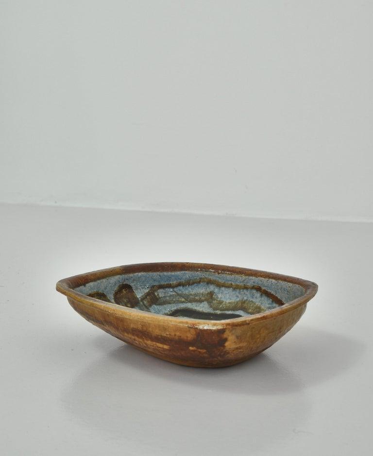 Danish Modern Group of Glazed Ceramics Bowls by Jeppe Hagedorn-Olsen, 1960s For Sale 2