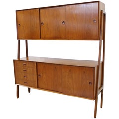 Danish Modern Gunni Omann Model 3 Two-Tier Teak Credenza