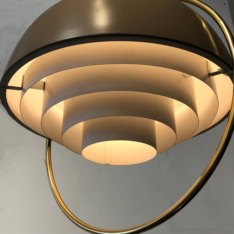 Machine-Made Danish Modern Hanging Light For Sale
