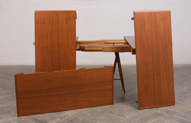 Modern Danish Dining Table by Henning Kjaernulf for Soro Stolefabrik  For Sale 6