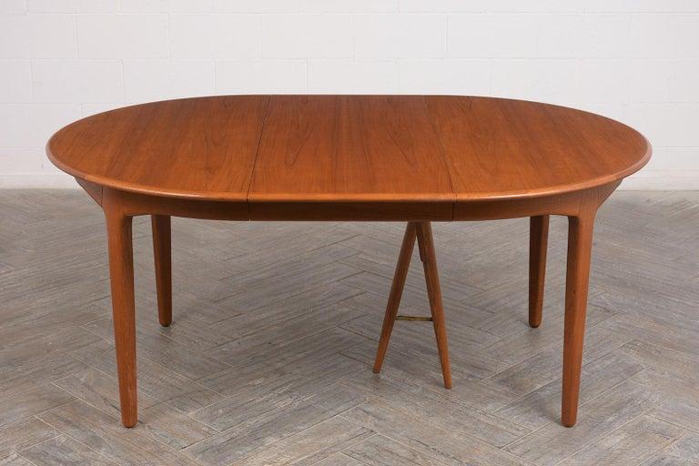 Polished Modern Danish Dining Table by Henning Kjaernulf for Soro Stolefabrik  For Sale