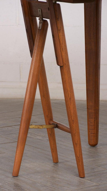 Metal Modern Danish Dining Table by Henning Kjaernulf for Soro Stolefabrik  For Sale