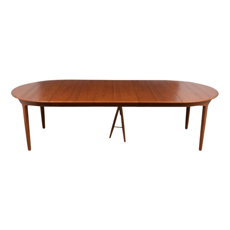 Modern Danish Dining Table by Henning Kjaernulf for Soro Stolefabrik  For Sale