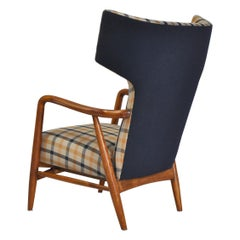 Danish Modern High-Back Armchair by Eva Koppel for Slagelse Møbelværk, 1947