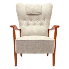 Danish Modern High Back Chair by Dux, 1940