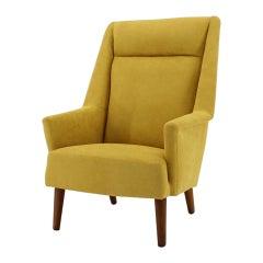 Danish Modern High Back Lounge Chair