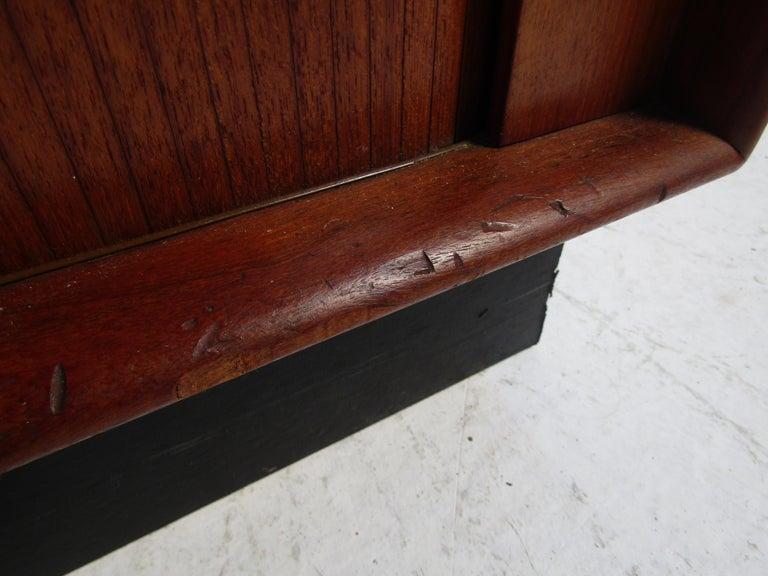 Danish Modern High Dresser with Tambour Door For Sale 5