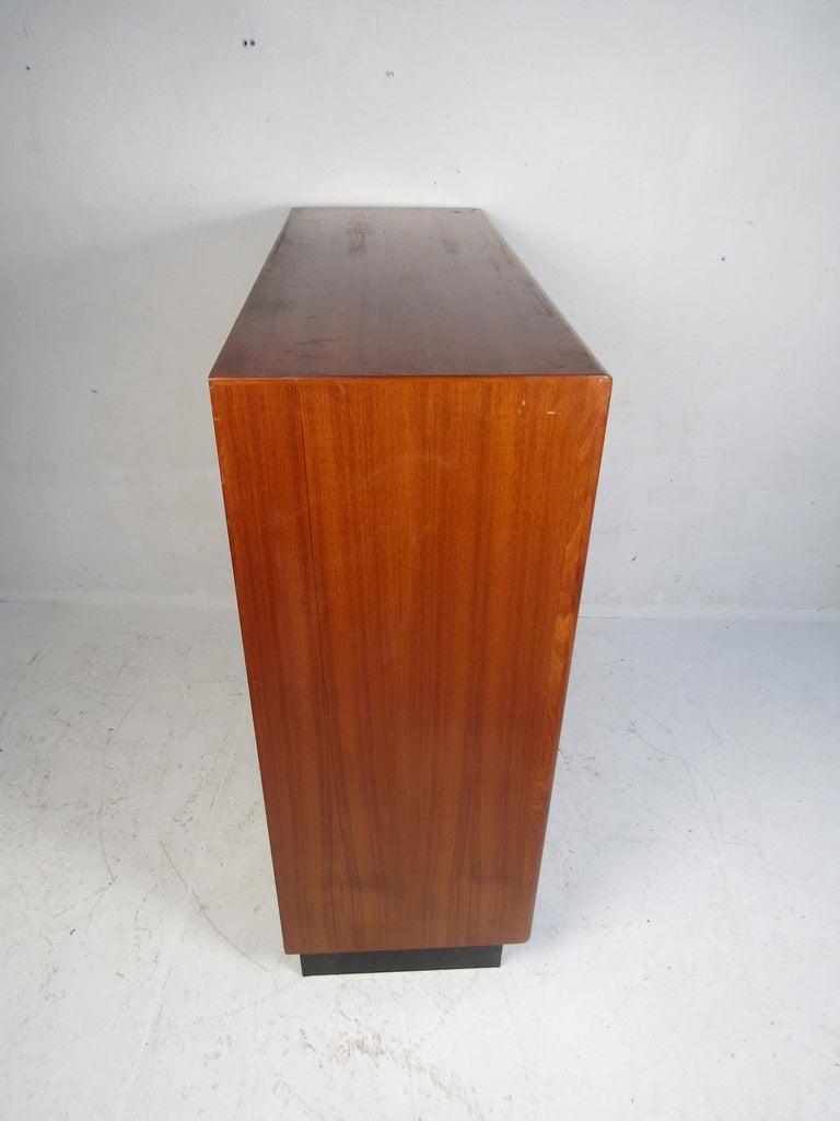 Mid-Century Modern Danish Modern High Dresser with Tambour Door For Sale
