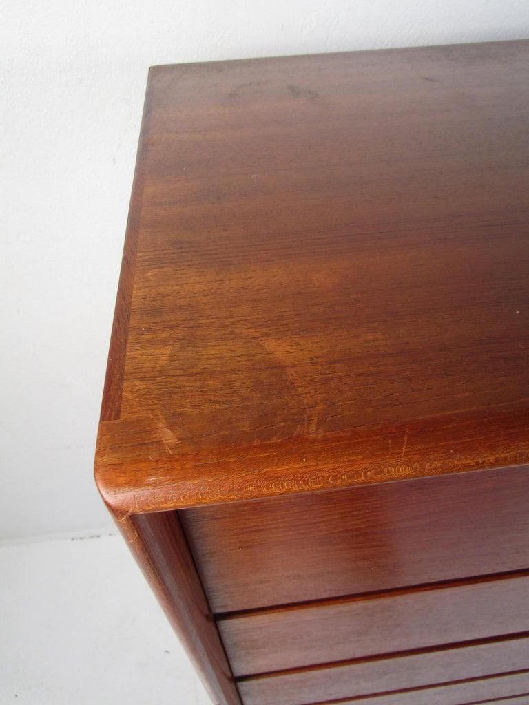 Danish Modern High Dresser with Tambour Door For Sale 3