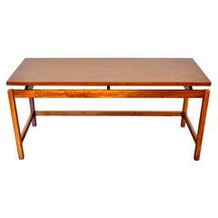 Danish Modern Jens Risom Walnut Sofa Table