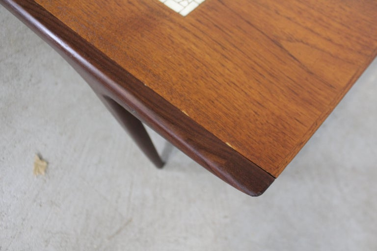 Danish Modern Jorgen Clausen Brande Moblefabrik Teak Tile Coffee Table For Sale 6