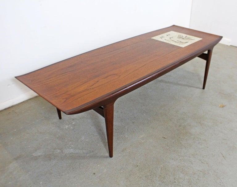 Scandinavian Modern Danish Modern Jorgen Clausen Brande Moblefabrik Teak Tile Coffee Table For Sale