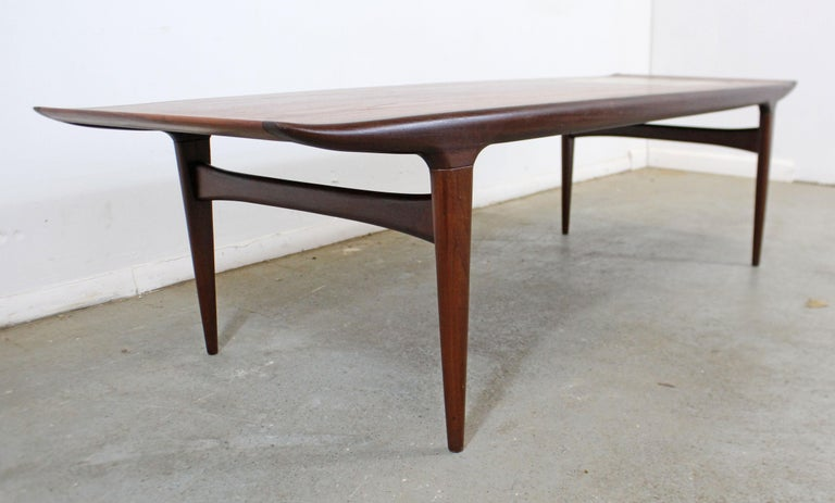 20th Century Danish Modern Jorgen Clausen Brande Moblefabrik Teak Tile Coffee Table For Sale
