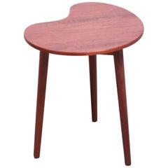 Danish Modern Kidney Teak Side Table by Gorm-Møbler