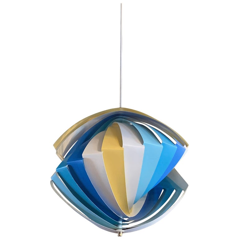 "Danish Modern ""Konkylie"" Pendant Lights by Louis Weisdorf for Lyfa For Sale"