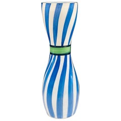 Danish Modern Kosta Boda Hand Painted Glass Vase Signed Ulrica Hydman Vallien