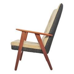 Danish Modern Kurt Olsen Model 230 Highback Lounge Chair in Teak