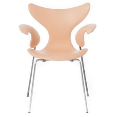 Danish Modern Leather Seagull Chair