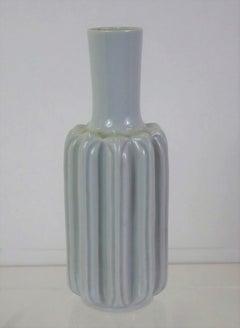Danish Modern Lisbeth Munch Petersen Celadon Ceramic Vase Bing & Grondahl, 1960s