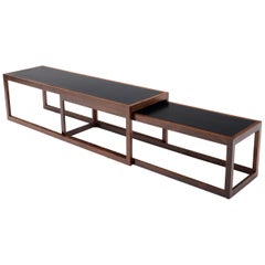 Danish Modern Long Nesting Solid Rosewood Frames Nesting Coffee Tables