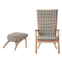 Danish Modern Lounge Chair and Ottoman