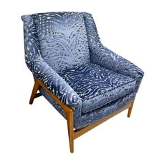 Danish Modern Lounge Chair Armchair Newly Upholstered