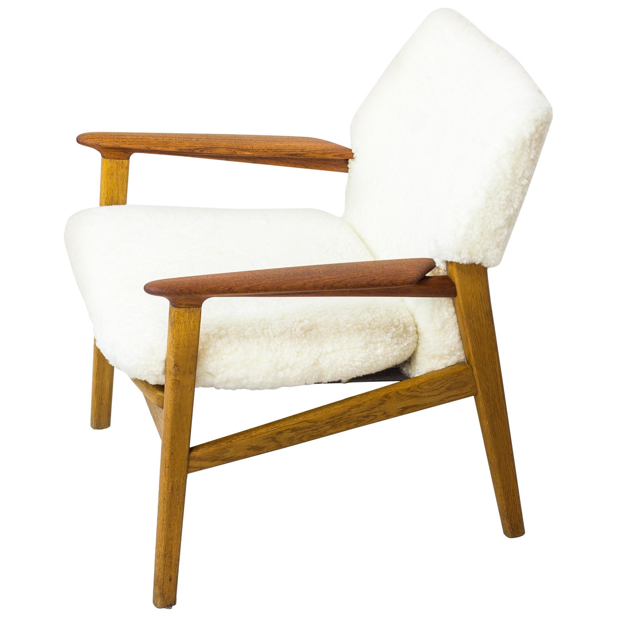 Danish Modern Lounge Chair by Hans Olsen for Verner Birksholm, Denmark, 1950s