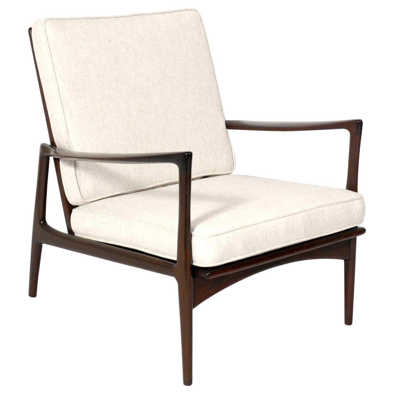 Danish Modern Lounge Chair by Ib Kofod Larsen