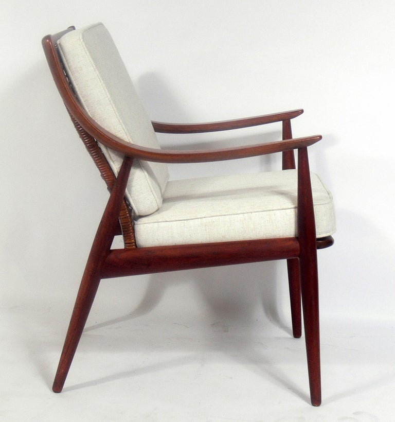 Mid-Century Modern Danish Modern Lounge Chair by Peter Hvidt and Orla Mølgaard Nielsen For Sale