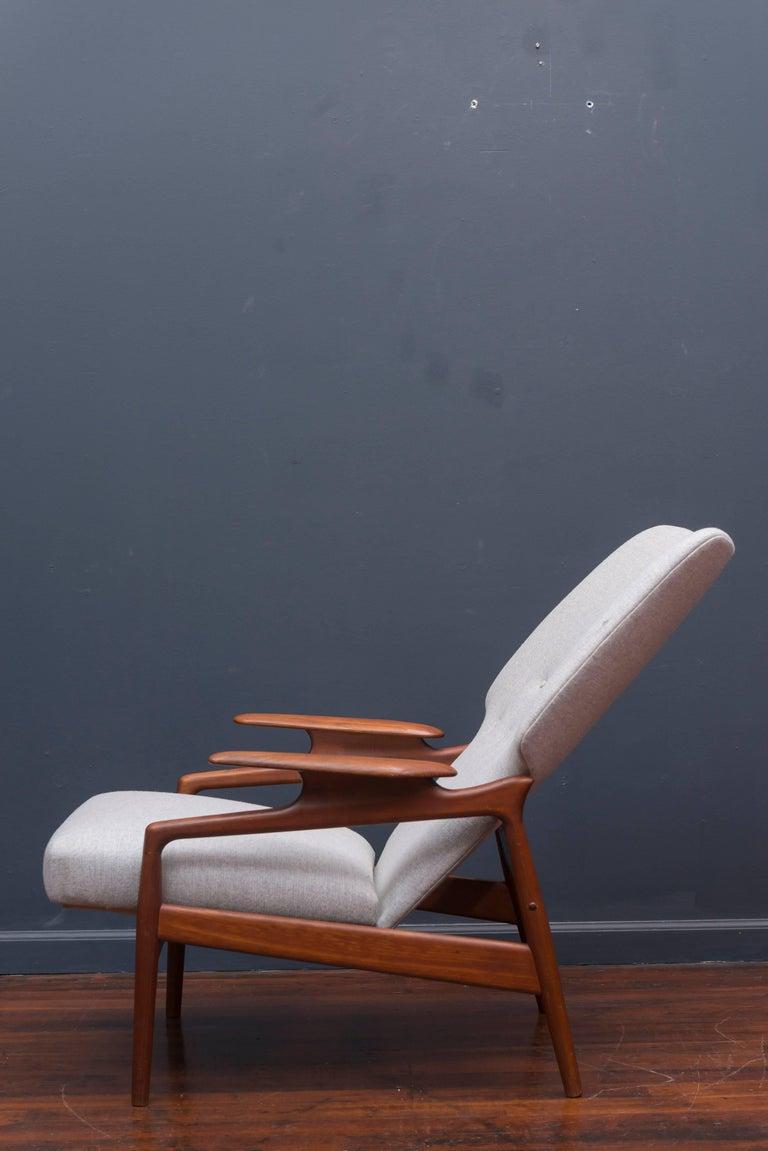Teak Danish Modern Lounge Chair For Sale