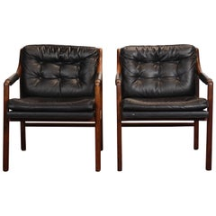 Danish Modern Lounge Chair, Set of Two